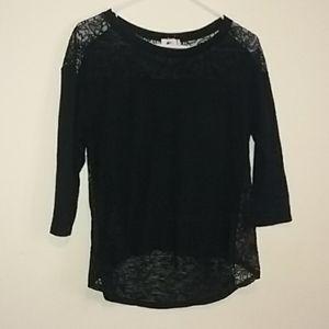 One Clothing Black Top 3/4 sleeve